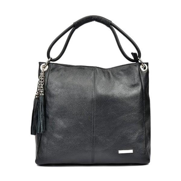 Čierna kožená kabelka Anna Luchini Magdana