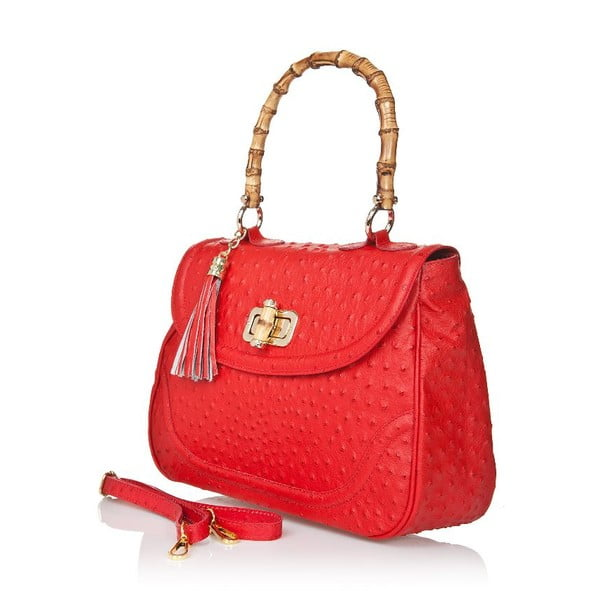 Kožená kabelka Bamboo Red