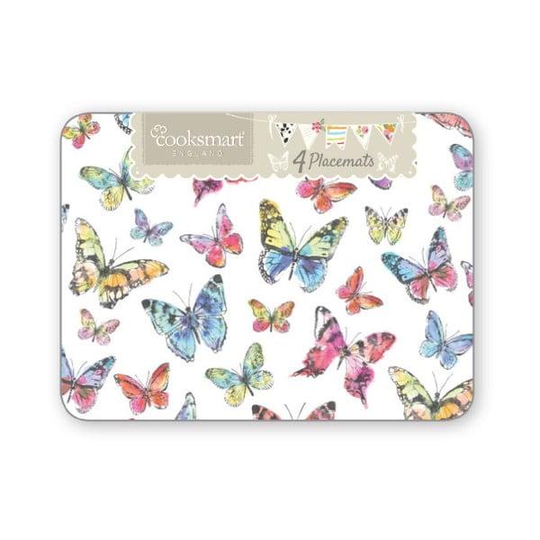 Sada 4 prostírání Cooksmart Butterfly