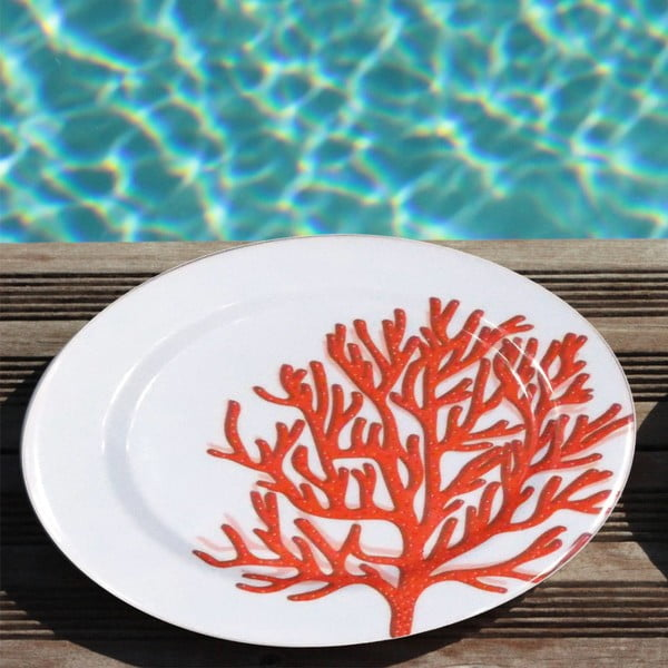 Sada 6 melaminových talířů Sunvibes Caorail Rouge, Ø 25 cm