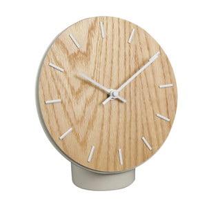 Stolní dřevěné hodiny s keramickým podstavcem Le Studio Hygge