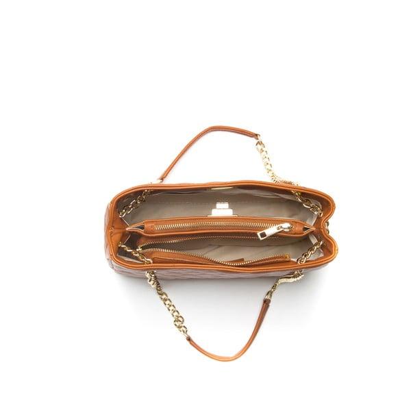 Kožená kabelka Anna Luchini 292 Cognac