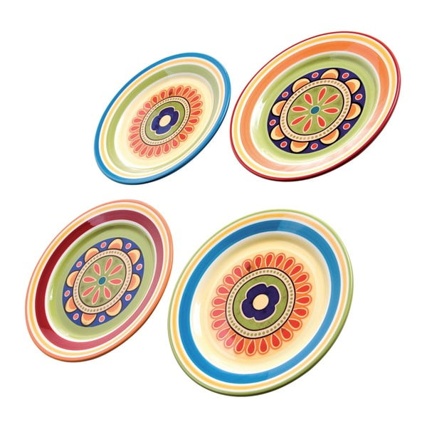 Sada 4 farebných tanierov na prílohy Brandani, ⌀22 cm