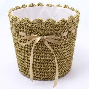 Khaki zelený pletený obal na květináč Dakls, ⌀ 24cm