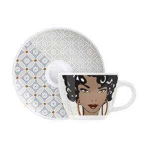 Set porcelánového šálku a podšálku na espresso Ritzenhoff Angela Schiewer, 8cl