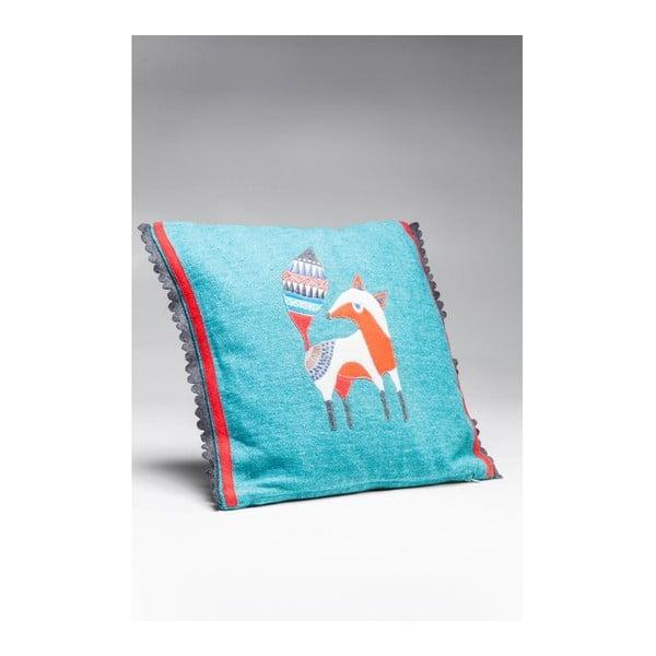 Pernă Kare Design Foxy, 40 x 40 cm, albastru
