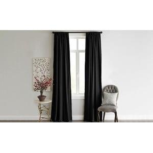 Černý závěs Home De Bleu Blackout Curtain, 140x240cm