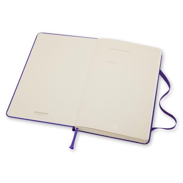 Zápisník Moleskine Hard 21x13 cm, fialový + linkované stránky
