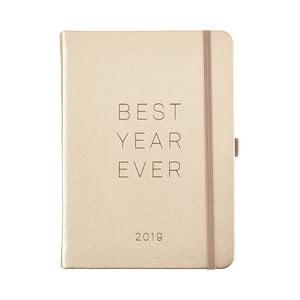 Diář pro rok 2019 s lepíky Busy B Goals