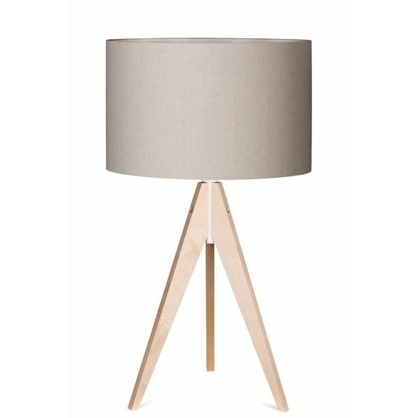 Stolní lampa Artist Grey Linnen/Birch, 65 cm