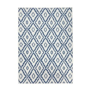 Covor reversibil Bougari Rio, 120 x 170 cm, albastru - alb