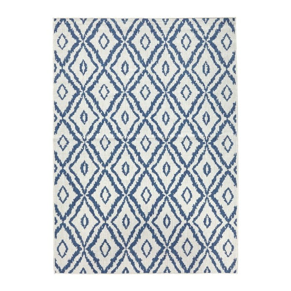 Covor reversibil Bougari Rio, 160 x 230 cm, albastru - alb