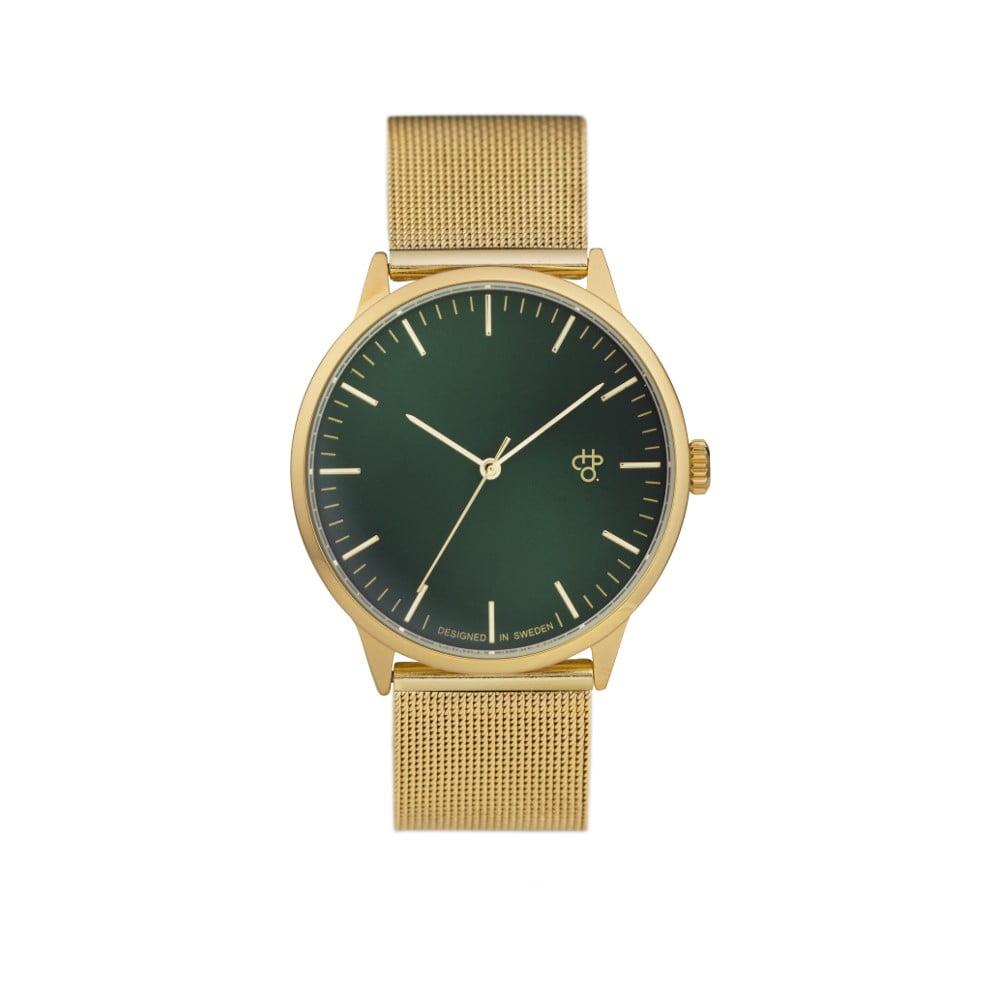 e2d7a3394 Hodinky ve zlaté barvě se zeleným metalickým ciferníkem CHPO Nando ...