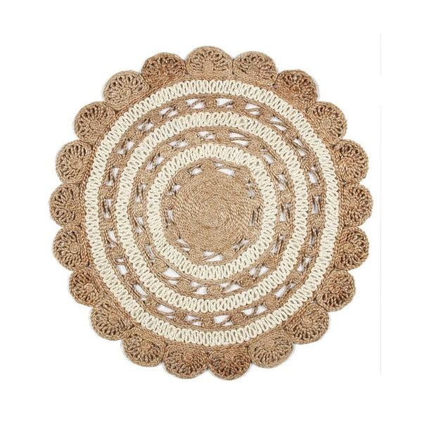 Jutový kruhový koberec Eco Rugs Cristina, Ø120cm