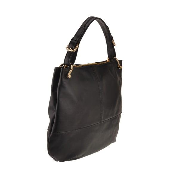 Kožená kabelka Auva, černá