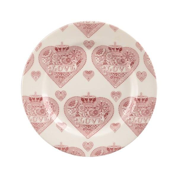 Dezertní talíř Made with Love Repeat, 20 cm
