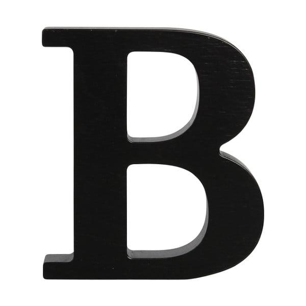 Černé dřevěné písmeno Typoland B