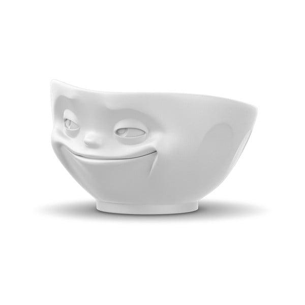 Matně bílá porcelánová usměvavá miska 58products