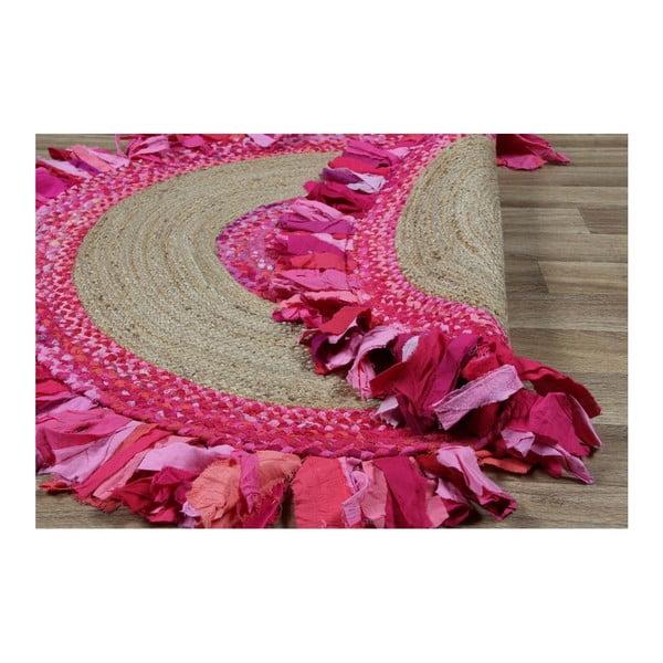 Kruhový koberec zjuty abavlny Eco Rugs Girl Power, Ø120cm