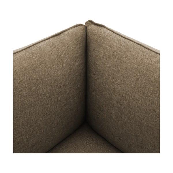 Béžové křeslo Vivonita Cube Sawana, pravá strana