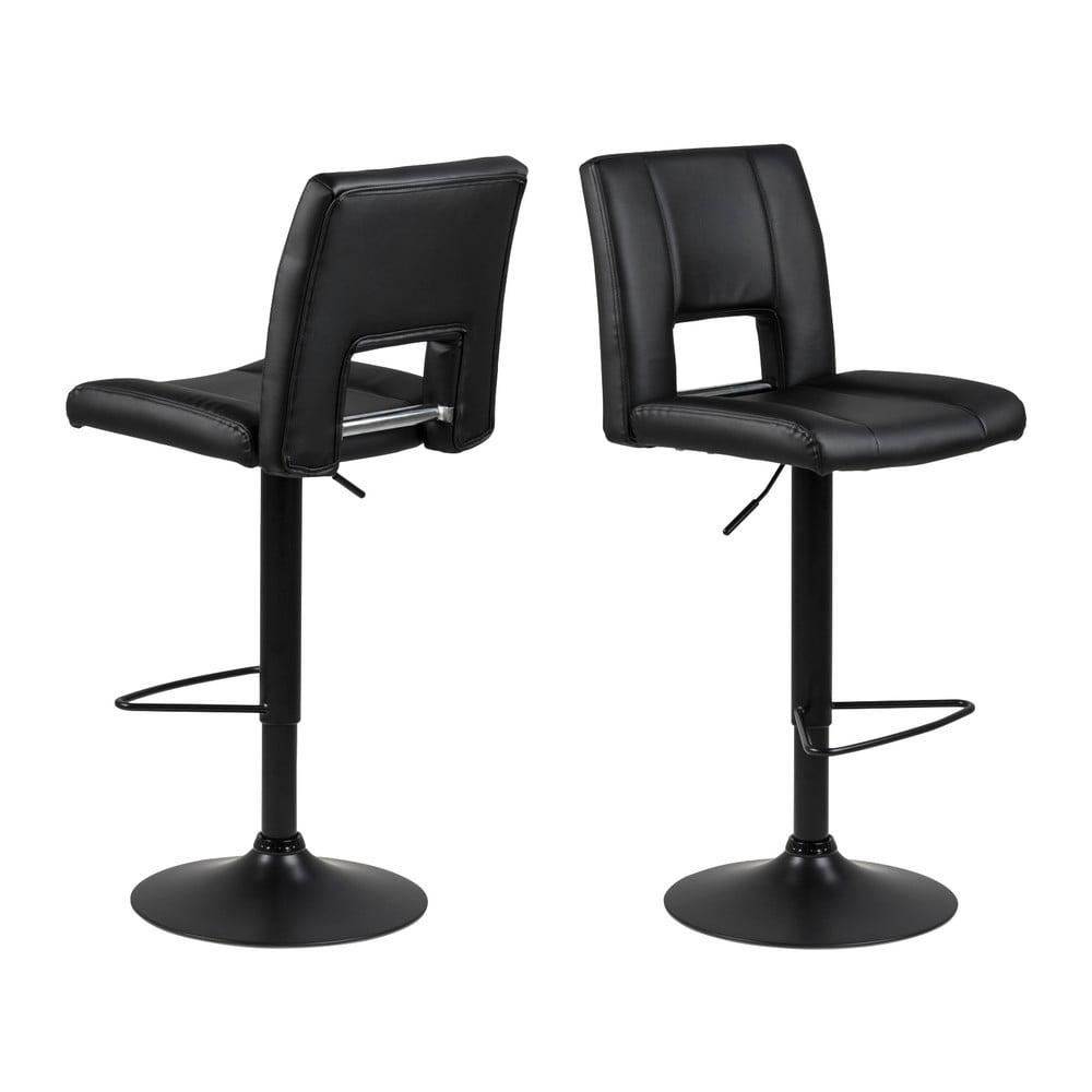 Černá barová židle s nastavitelnou výškou Actona Sylvia