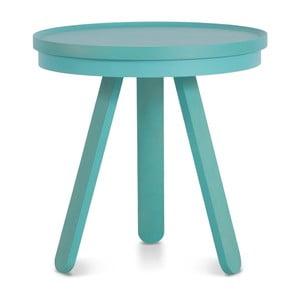 Zelený odkládací stolek z jasanového dřeva s podnosem Woodendot Batea S