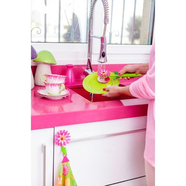 Kartáč na nádobí Vigar Pink Flower
