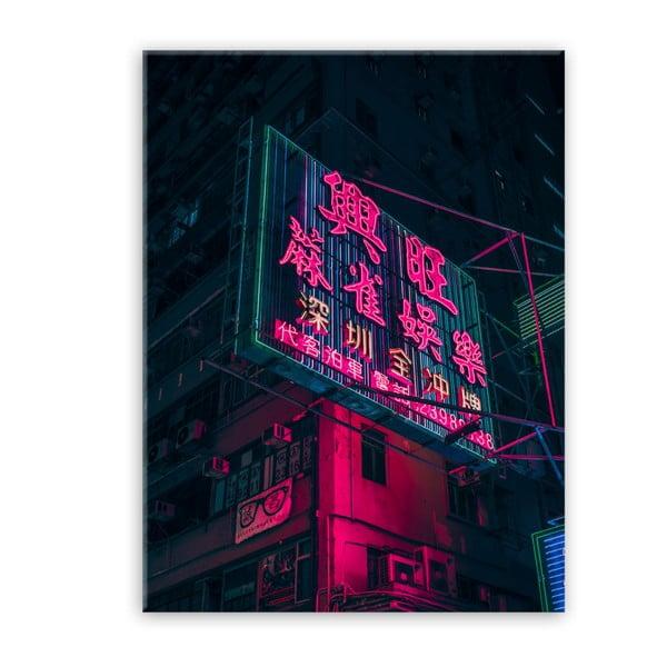 Obraz Styler Glasspik Neon Billboard, 80 x 120 cm