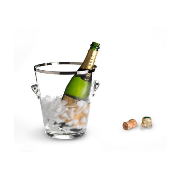 Chladič na šampaňské s platinovým okrajem