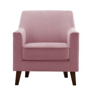 Fotoliu Jalouse Maison Kylie, roz pudră