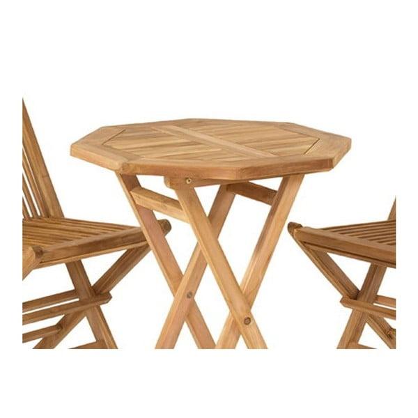 Zahradní stůl a 2 židle Melilla Natural