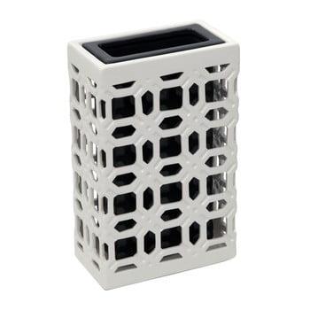 Vază ceramică Mauro Ferretti, 31,5 cm, negru – alb de la Mauro Ferretti