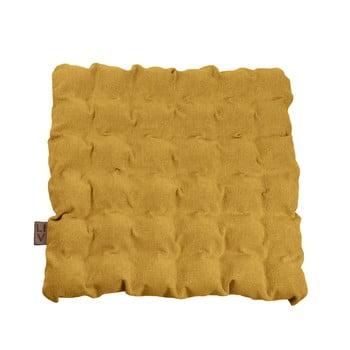 Pernă pentru șezut cu bile pentru masaj Linda Vrňáková Bubbles, 55x55cm, galben închis imagine