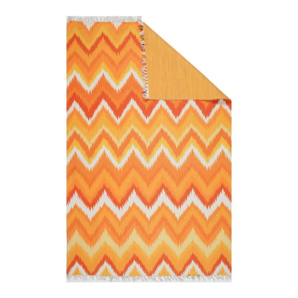 Oranžový koberec Eco Rugs Tribe, 120x180cm
