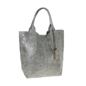 Šedomodrá kožená kabelka Tina Panicucci Pera