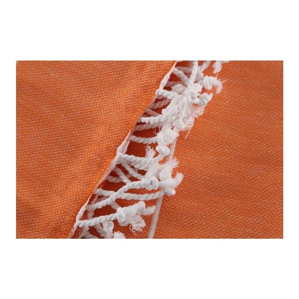 Oranžová osuška Hammam Sultan, 100x180 cm