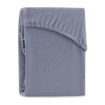 Cearșaf elastic pentru pat dublu AmeliaHome Ruby Steel, 200-220 x 200 cm, gri imagine