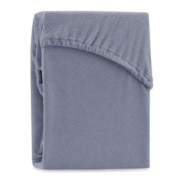 Cearșaf elastic pentru pat dublu AmeliaHome Ruby Steel, 180-200 x 200 cm, gri