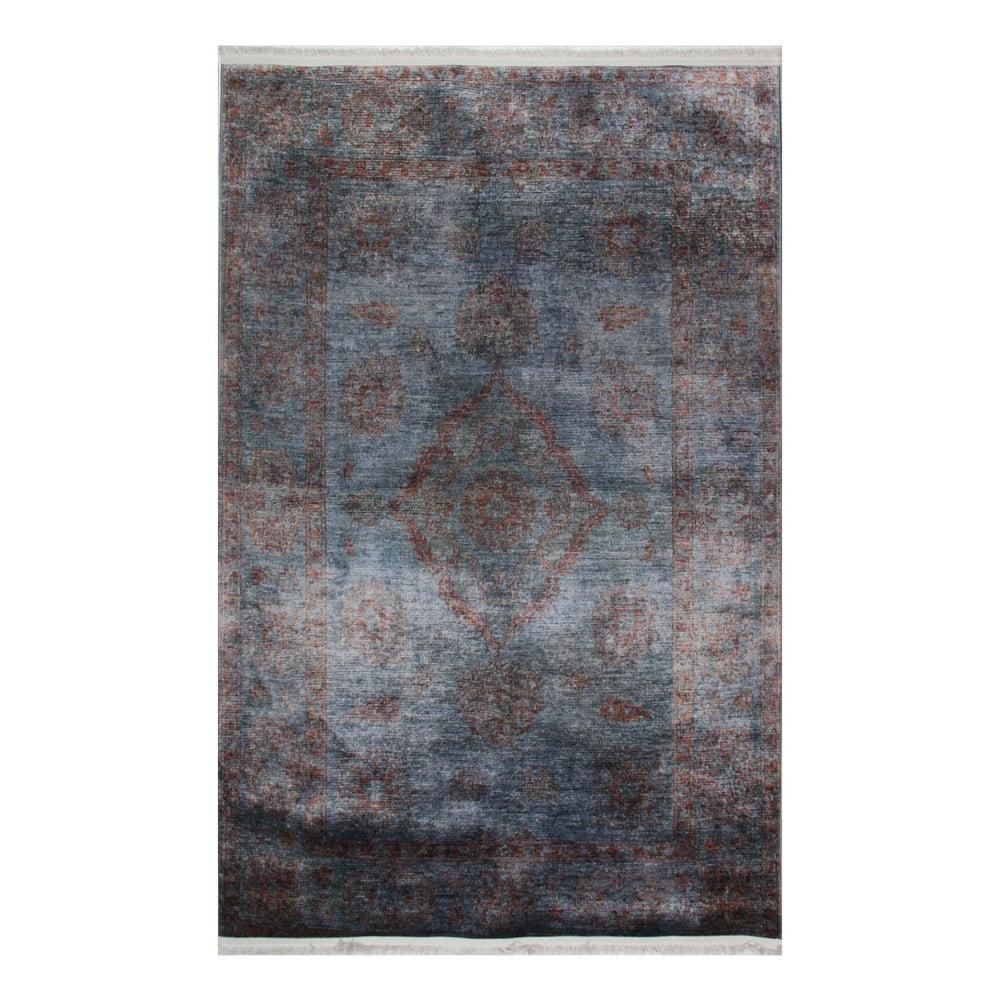 Modrošedý koberec Eco Rugs Diane, 75x150cm