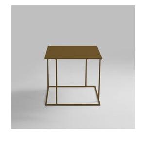 Odkládací stolek ve zlaté barvě Custom Form Walt, 50x50cm