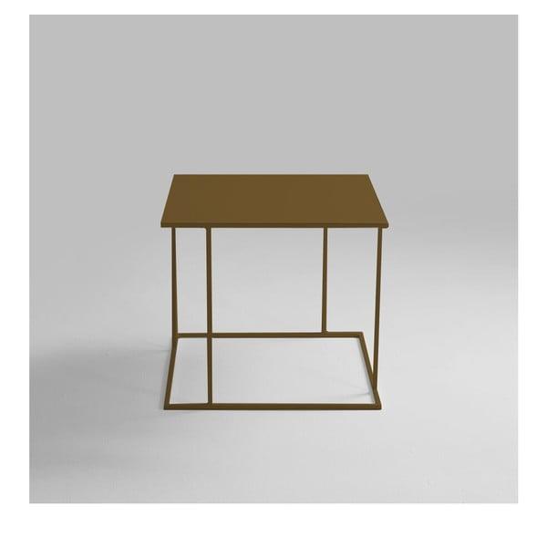 Walt aranyszínű tárolóasztal, 50 x 50 cm - Custom Form