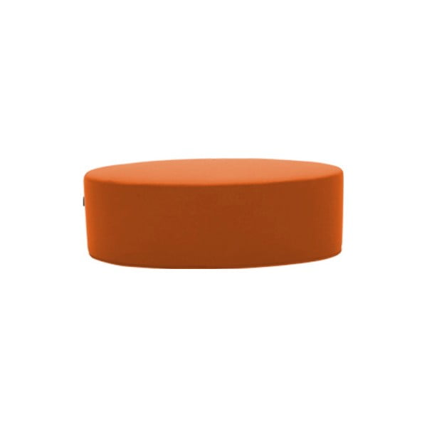 Oranžový puf Softline Bon-Bon Felt Mandarin, délka 60 cm