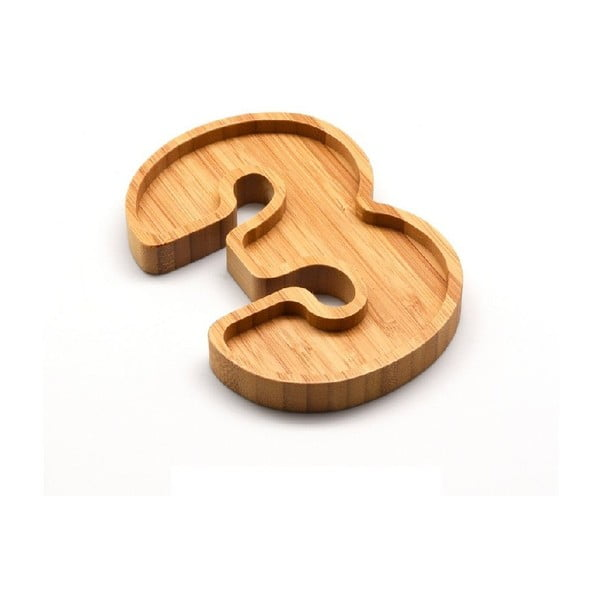 Bambusový servírovací talířek Bambum Numero Three