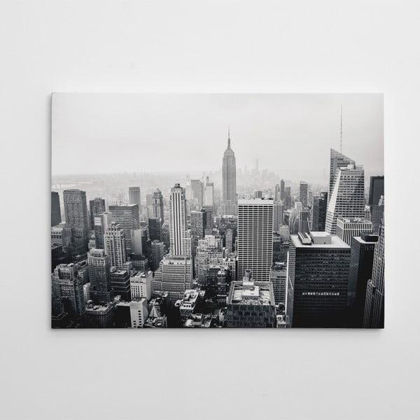 Obraz na plátně Černobílý Manhattan, 50x70 cm