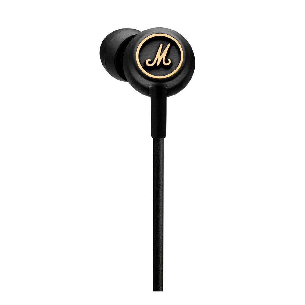 Černá sluchátka Marshall Mode EQ Black and Brass