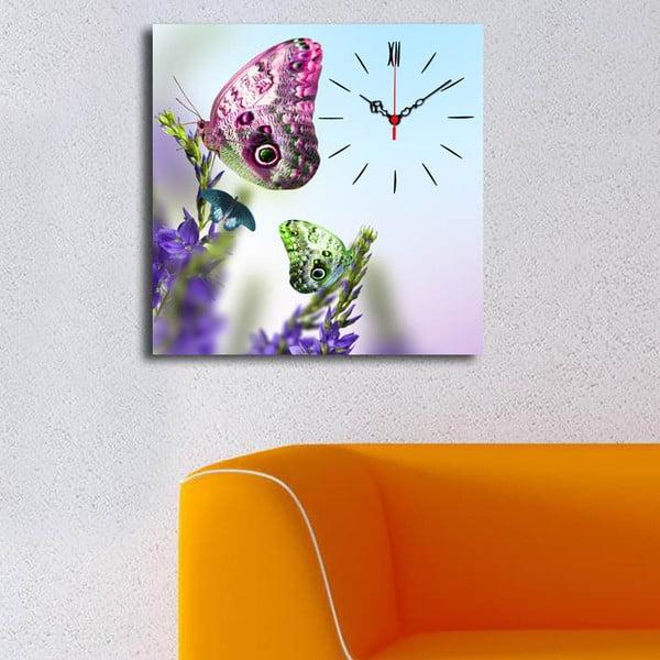 Obrazové hodiny Motýl