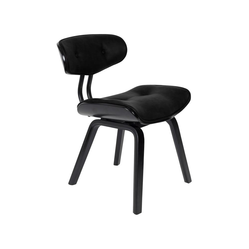 Černá židle s polstrováním Dutchbone Mirlo