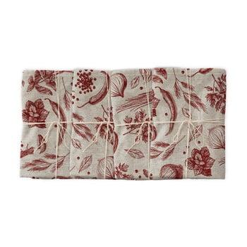 Set 4 șervețele textile Linen Couture Red Peppers, lățime 40 cm imagine
