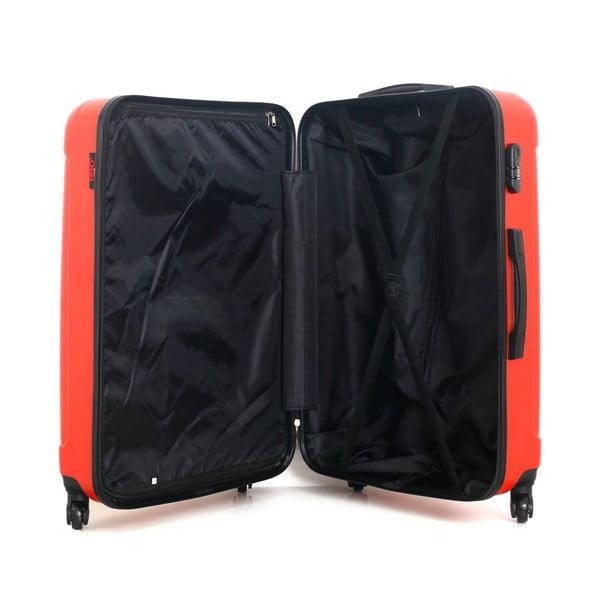 Červený cestovní kufr na kolečkách Hero Fogo, 93 l