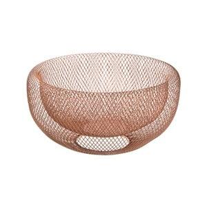 Kovová dekorativní mísa ve zlatorůžové barvě Native Bowl, ⌀ 28,5 cm